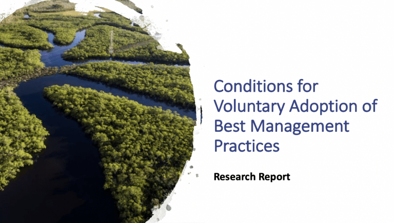 Conditions for Voluntary Adoption of Best Management Practices