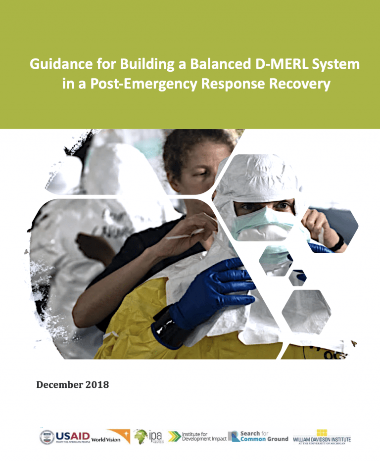 Guidance for Building a Balanced D-MERL System in a Post-Emergency Response Recovery