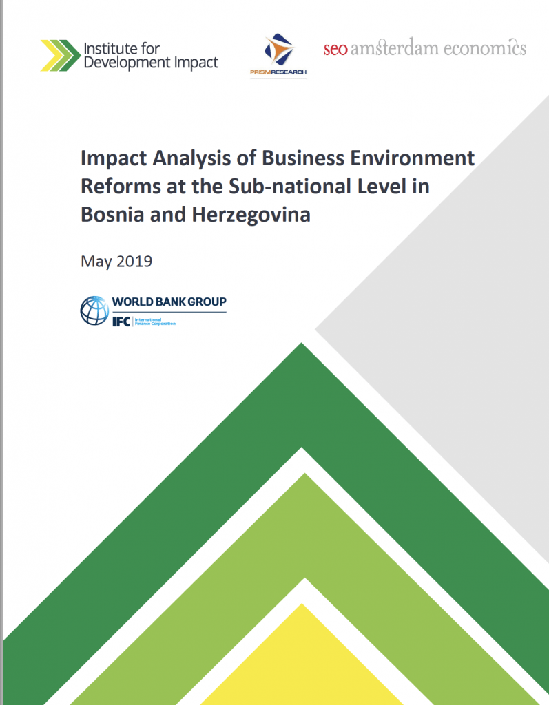 I4DI's impact evaluation - Business Environment Reform