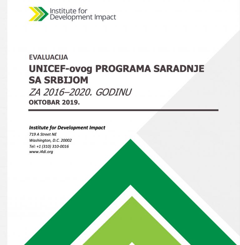 Evaluacija UNICEF-ovog programa saradnje sa Srbijom