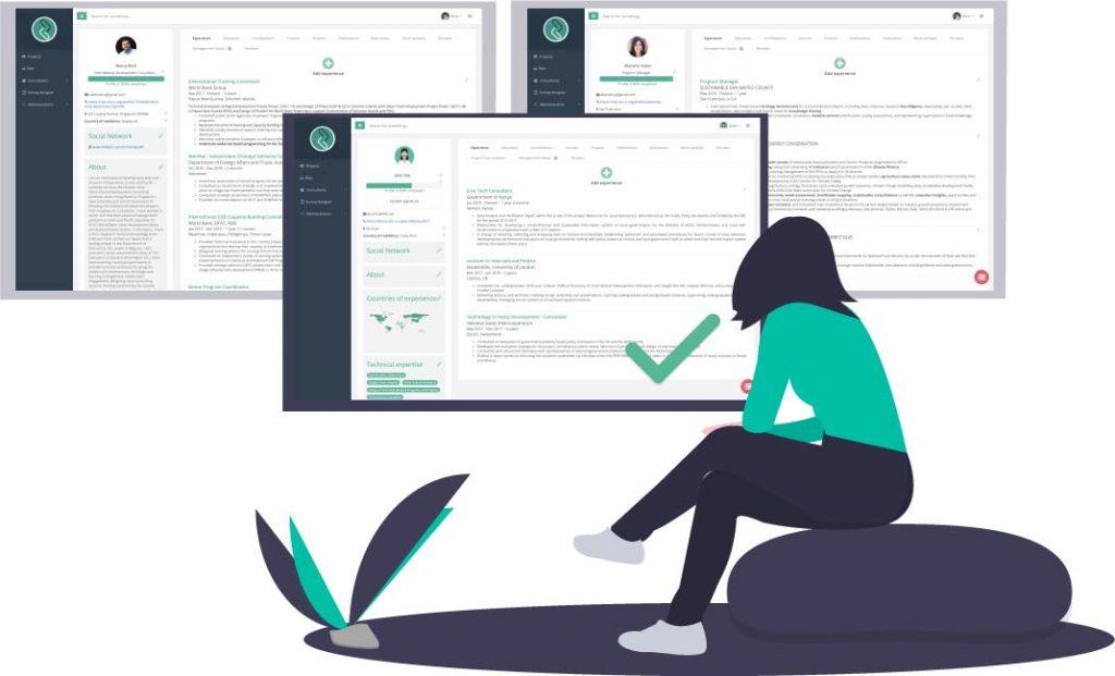 Zen-O Consultants illustration girl watching screen