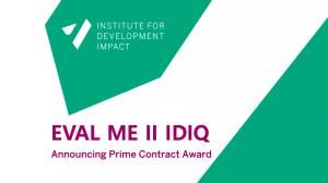Announcing Prime Contract Award Eval Me II IDIQ
